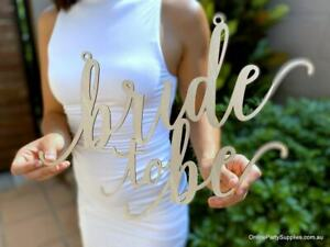 Wooden Bride To Be Engagement Wall Sign Centrepiece - 40cm x 40cm
