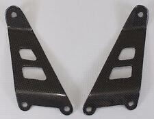 Suzuki TL1000S All Years Exhaust Bracket - 100% Plain Weave Carbon Fiber