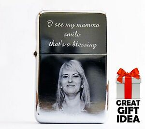 Photo & Text Personalised Engraved Windproof Lighter Quality Christmas Gift