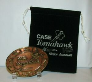 *Case Construction Customer Center Tomahawk Belt Buckle 1989 VIP Backhoe Dozer