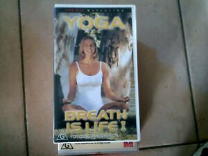 YOGA BREATH IS LIFE VHS TAPE VIDEO PAL