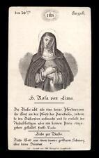 santino incisione 1800 S.ROSA DA LIMA