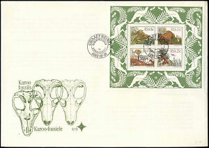 South Africa 1982 Karoo Fossils M/S Large FDC First Day Cover#V2599
