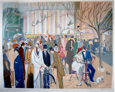 Paris ISAAC MAIMON Original HAND SIGNED Large ART LITHOGRAPH SERIGRAPH Israel
