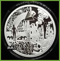 2020 1oz Dark Side of Humanity Proof Silver Shield MiniMintage ***