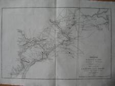 1807 - MARSHALL - AMERICAN REVOLUTION - Map Fields of Operations Philadelphia NJ
