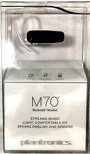 Plantronics M70 Wireless Bluetooth Headset Clip on Earloop Black Factory Sealed
