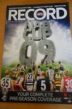 2009 AFL NAB CUP PRE-SEASON PREVIEW FOOTBALL RECORD