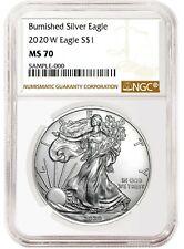 2020 W Burnished Silver Eagle Ngc Ms70 - Brown Label - Presale
