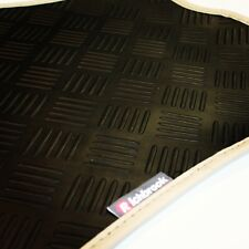 Hyundai Veloster (11-now) Richbrook 3mm Black Rubber Car Mats - Beige Leather