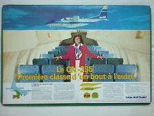 6/1983 PUB AVION CASA CN-235 SPANISH AIRCRAFT HOTESSE STEWARDESS FRENCH AD