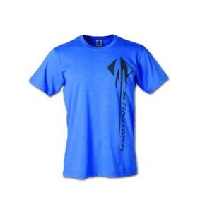 C7 Corvette Vertical Stingray Blue T-Shirt