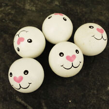 Pack 10  Wooden Animal Rabbit  Face Doll Head Beads, 30 mm Faces no holes WH6