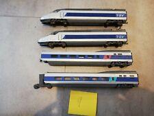 TGV bleu ho 4 éléments roule très bien jouef roco lima