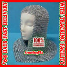 Chainmail Coif Aluminum V-neck Chain mail Hood Medieval Reenacment Armor CostumeReenactment & Reproductions - 156374