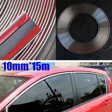Brand 10mm*15m Car Chrome Moulding Trim Strip Tape Door Edge Guard  Protector