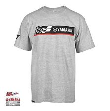 YAMAHA BRAND Ready, Set, Ride Tee CRP-16TGP-GY with Racing Design & Yamaha Logo