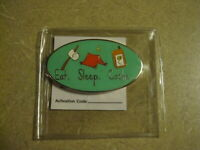 Geocaching Eat. Sleep. Cache. Geocoin~The Necessities~ Trackable/Unactivated/New