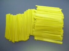 """2,000 Yellow 4"""" Pre-cut Plastic Twist Ties Uline Reusable for General Use"""