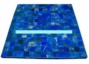 42'' antique Marble table top dining center coffee inlay blue lapis pietra dura
