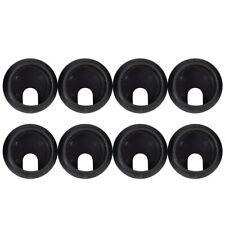 Black Round Plastic Computer Desk Cable Grommet Hole Cover 35mm 8Pcs L9Z5
