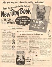 VTG 1949 Dash Armour Dog Food Book BOXER Handler Edward Loebe Ardis Peet Ad