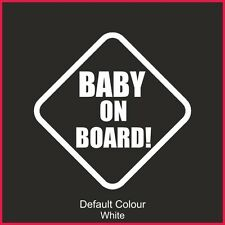 Baby on Board Decal, Cute, Funny, Sticker, Graphics, Car, Warning, Safety, N2160