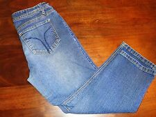 BOGARI Women's Crop Capri Denim Blue Jeans Size 8
