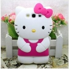Cover CUSTODIA case per SAMSUNG GALAXY S3 I9300 I9301 Silicone HELLO KITTY 3D