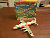 50s MARX TOYS LINEMAR TIN FRICTION CAPITAL AIRLINES VISCOUNT PASSENGER PLANE TOY