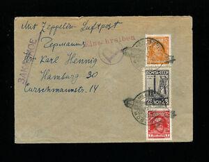 Zeppelin Sieger 85D Russia Flight Russia Registered Post Return Trip
