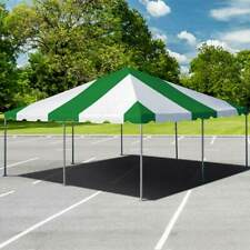 New listing 20x20' Party West Coast Frame Tent Green White Vinyl Canopy Waterproof Pavilion