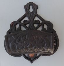 Cast Iron Match Holder Black Wall Mount Hanging DMH 1-B