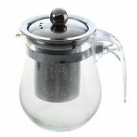 350Ml Hitzebeständige Klarglas Teekanne Edelstahl Infuser Flower Tea Pot K2X4