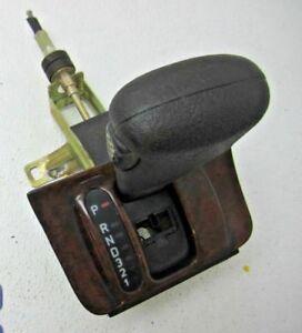 95 SAAB 9000 AUTOMATIC TRANSMISSION SHIFTER HANDLE BOOT TRIM FLOOR CONSOLE KNOB