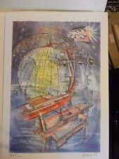 Mount Rushmore Lithograph Print by René Villiger Signed Numbered 134/600