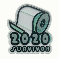 PVC Patch 3D Airsoft Patch 2020 Toilet Paper Survivor Hook and Loop #9002
