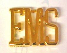 Letters Large Gold Plated Prestige Medical New Ems Lapel Collar Pin Tac Cut Out