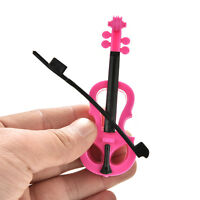 1 Pcs Creative Fashion Rose Black Violin for s Dolls Kids Gifts  R8YFB