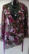 Undercoverwear sheer purple ladies top size 12