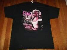 NEW/NO TAGS PINK WORLD TOUR 2018  DOUBLE-SIDED CONCERT  T-Shirt  size XL