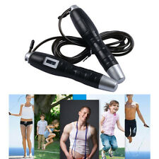 Adults Kids Skipping Rope Counting Jumping Ropes Gym Fitness Exercise Mma