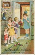 uralte AK, Herzlichste Glückwünsche zum Geburtstage/Gratulation Kindergeburtstag