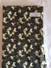 "Green/Yellow/Black Camo soft cozy Flannel  Nursery Fabric 36"" By 42"" Wide"