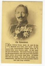 AK Preussen, Kaiser Wilhelm II, Feldpostkarte 1 WK