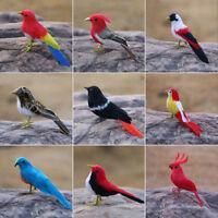 1 X Fake Artificial Feathered Bird Realistic Garden Home Decor Taxidermy