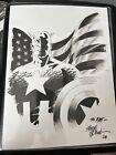 Steve+Epting+Original+Captain+America+Commission+Sketch+SIGNED+8x10+Comic+Art