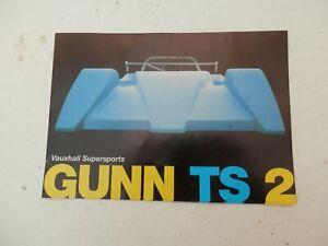 Motor Racing 4 Page Brochure. Gunn TS2. Vauxhall Supersports.