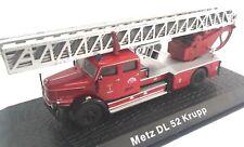 Metz DL 52 Krupp Camión bomberos fire truck 1/72 ATLAS Diecast