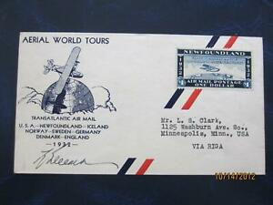 Newfoundland 1932 Wayzata semi official airmail uncancelled cover , signed [ 803